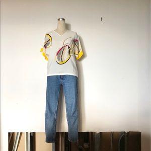 Serge Nancel Paris - Vintage Silky Abstract Blouse